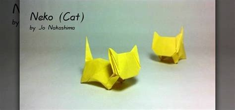 How To Make A Paper Cat - how to make a folded paper cat with origami 171 origami
