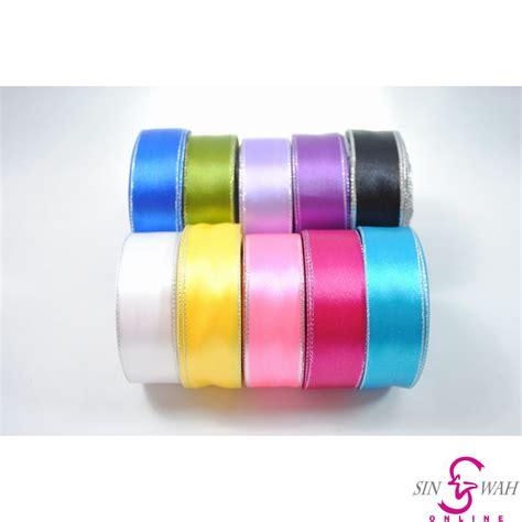 Joyko 24mm X 15 Yard 24mm 1 inch plain satin ribbon with silver edging