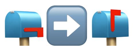 emoji pop film envelope mailbox 10 emoji only texts to send to your mailman when you re
