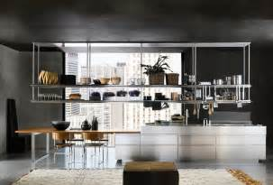 Metal Etagere Tower Modern Italian Kitchen Design From Arclinea