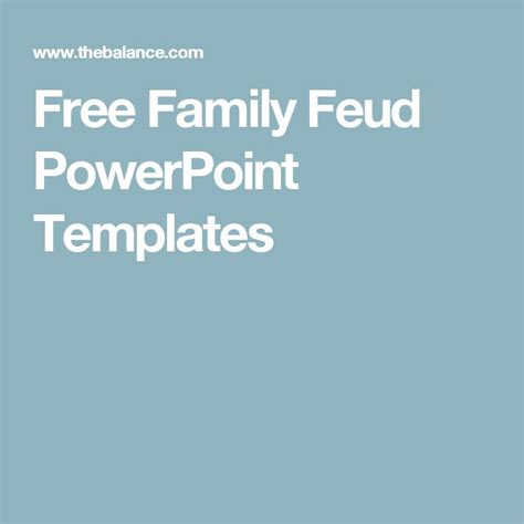 12 Best Family Feud Images On Pinterest Family Games Free Family Feud Powerpoint
