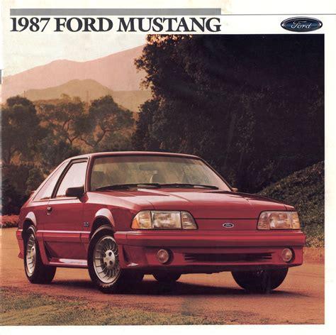 ford brochures ford 1987 mustang sales brochure