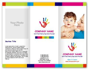 child care brochure templates free paint childcare brochures youprint dtp ideas