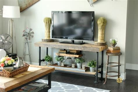 Plumbing Pipe Tv Stand by Reclaimed Wood Black Pipe Tv Stand Creative Tvs And
