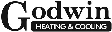 Godwin Plumbing by Heating Logo With White Outline On Transparent Background