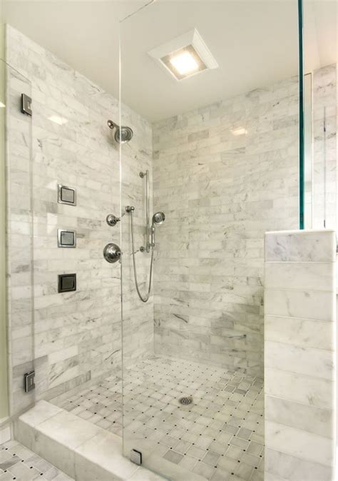 Glass Shower Walls And Doors Master Bathroom Shower Half Wall Instead With No Glass Or