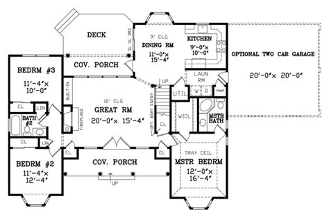 Ranch House Plans With 2 Master Suites country style house plan 3 beds 2 baths 1380 sq ft plan
