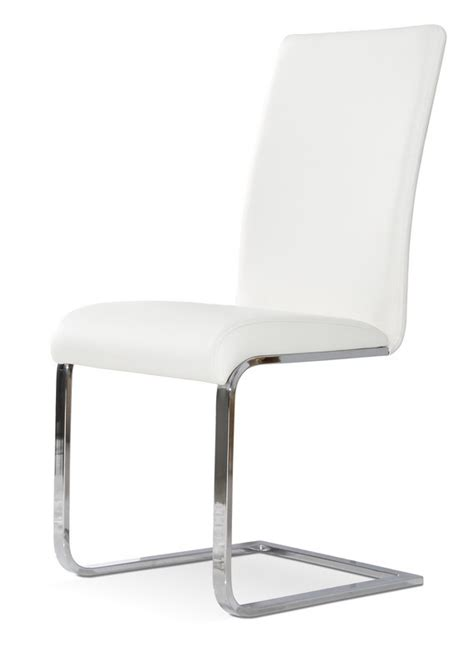 modern white dining chairs crane modern white dining chair set of 2