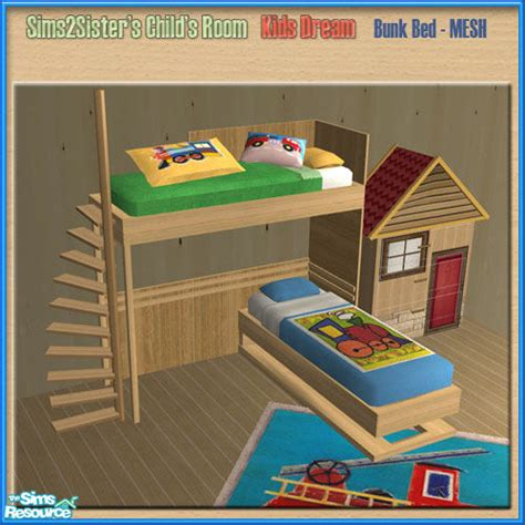Sims 2 Bunk Beds Sims2sisters S2s Child Room Bunk Bed