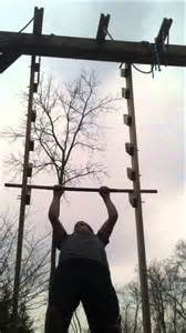 Pull Up Bar Backyard by Homemade Salmon Ladder Youtube