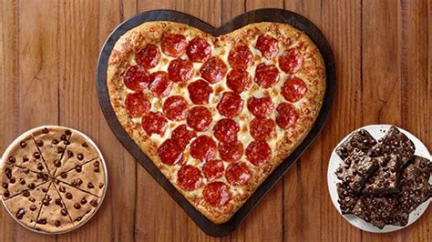 pizza hut valentines pizza hut serves up shaped pizza for 2018