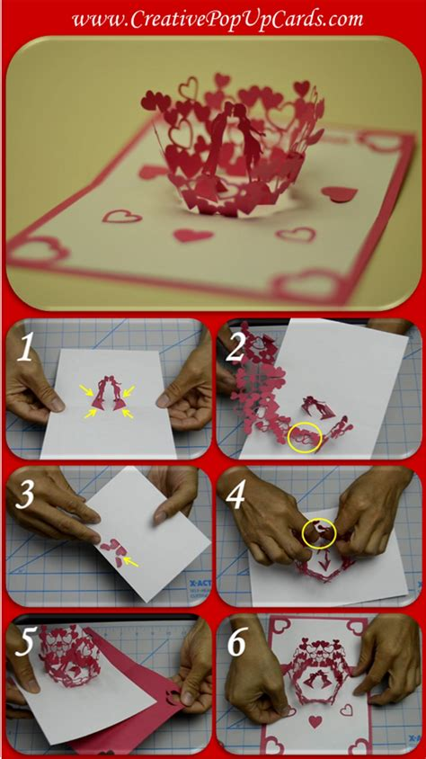 how to make a s day card step by step s day pop up card tutorial
