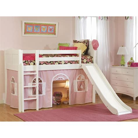 Bunk Bed With Tent Cottage Standard Low Loft Tent Bed Bunk Beds Loft Beds At Hayneedle