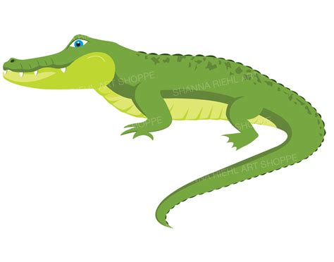 crocodile clipart alligator clipart crocodile digital