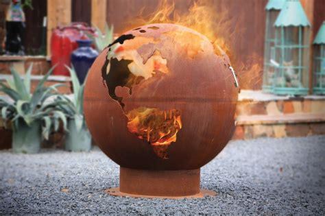 Unique Fire Pits Bbq Fire Pits The Globe Globe Pit