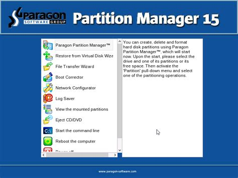 partitioning cannot get into bios or boot from disk on paragon partition manager 15 proven reliability for all