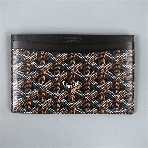 Beautiful Small Home Interiors goyard brand new brown vector leather rectangle card