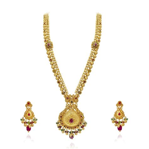collections ethnic indian jewelry gold necklace set