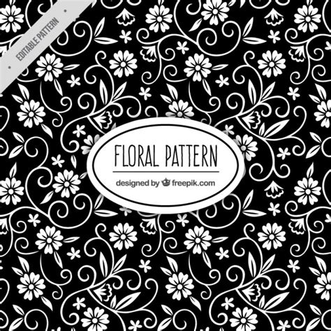floral pattern vector commercial use floral black pattern vector free download