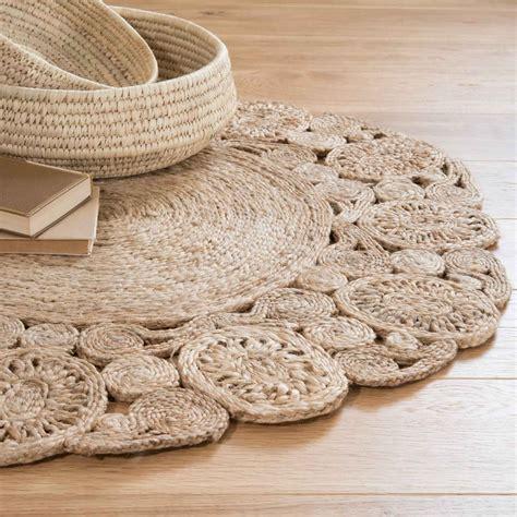 alfombra de yute alfombra redonda de yute d 90 cm kuta maisons du monde