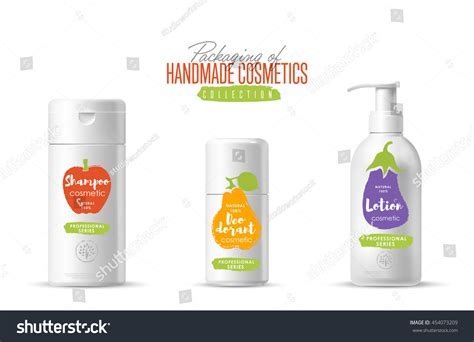 Handmade Cosmetics Brands - handmade cosmetic brand vector packaging template