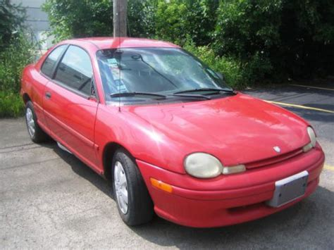 find used 1998 dodge neon sport coupe 2 door 2 0l red manual shift 5 speeds in mount prospect