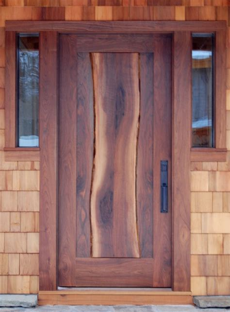 Rustic Wood Front Doors Newwoodworks Live Edge Woodworking Rustic Front Doors New York By Newwoodworks