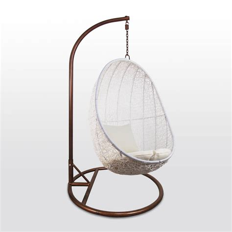 Swing Chair Singapore by White Cocoon Swing Chair White Cushion Furniture