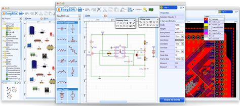 automatic pcb layout design software circuit simulator and pcb design software easyeda