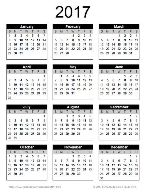 printable calendar 2017 portrait 2017 calendar templates and images
