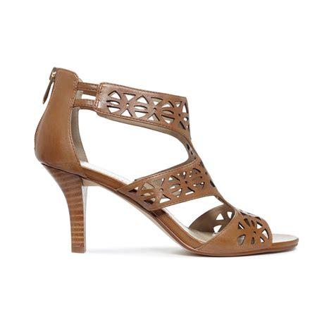 adrienne vittadini sandals adrienne vittadini greece sandals in brown lyst