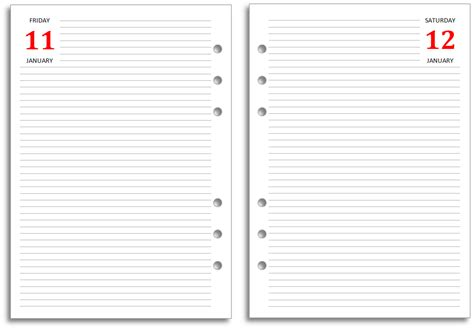 printable dated journal pages philofaxy new filofax a5 diary layout for free download