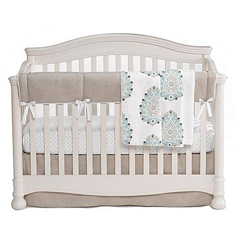 Liz And Roo Modern Damask Crib Bedding Collection In Sand Crib Bedding Modern