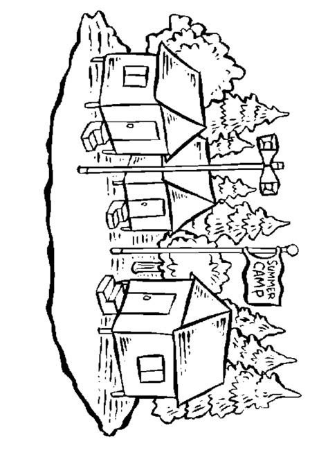 free coloring pages summer camp coloring home