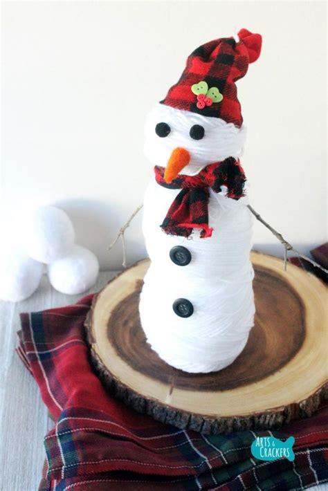 knit  sew cute snowman craft tutorial yarn ball snowman