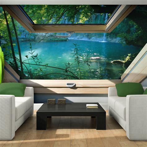 Fototapete 3d Natur by Vlies Tapete Fototapeten Tapeten Fenster Blick 3d Wasser