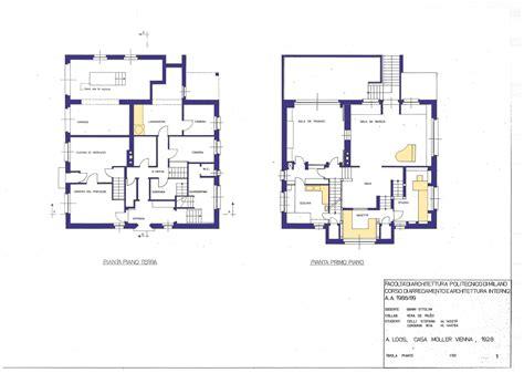 Floor Plans With Spiral Staircase by Adolf Loos Villa Moller Vienna Austria 1927 Atlas Of