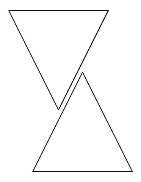 triangle pattern outline 6 inch triangle pattern use the printable outline for