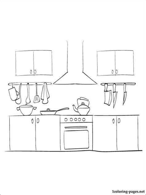 coloring page of a kitchen kitchen coloring page coloring pages