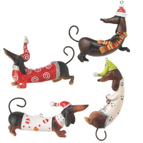 new raz imports dachshund dog pyramid christmas tree