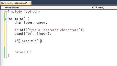 Character Letter Java How To Convert Character From Lowercase To Uppercase In C Programming