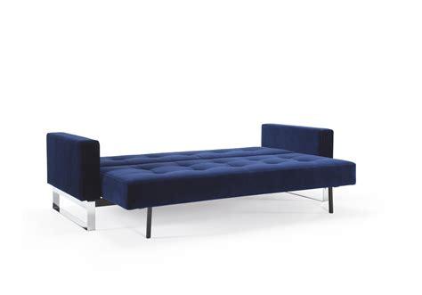 Velvet Sofa Bed Cassius Velvet Sofa Bed Size Vintage Velvet Blue By Innovation