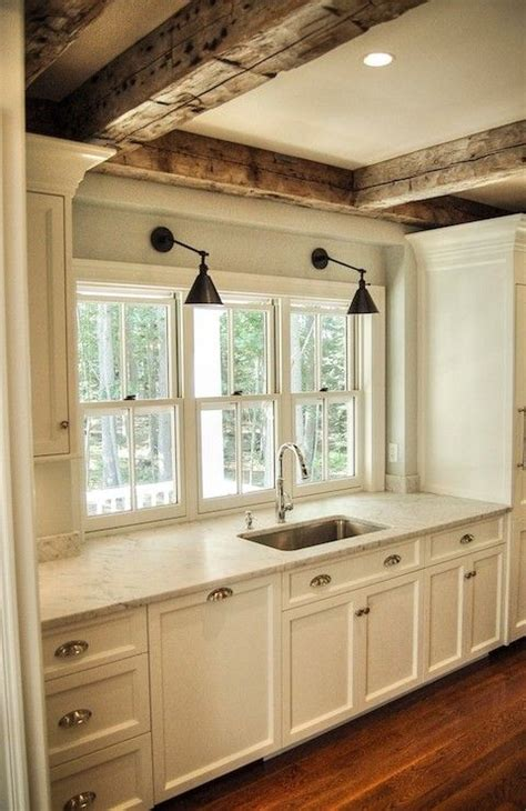 exposed wood beams exposed wood beams cottage kitchen gulf shore design