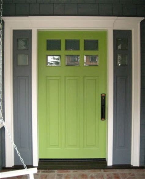 lime green door building green in vermont front door color