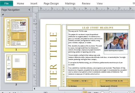 Free Newsletter Templates Free Newsletter Templates For Microsoft Word