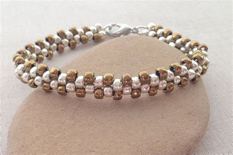 beading ideas bracelets learn brick stitch with this easy bracelet project