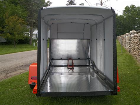 trailer bed enclosed dual purpose r less r free drop bed
