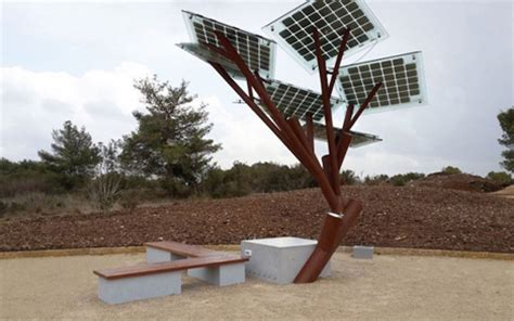 public phone chargers  artificial solar powered trees