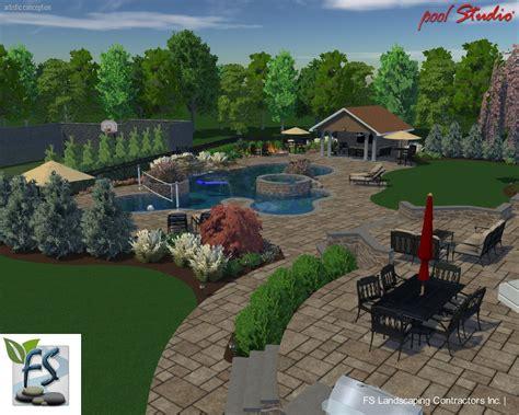 Landscape Construction Landscaping Company Nj Pa Custom Pools Walkways