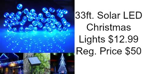 blue led christmas lights 33ft 12 99 74 off coupons